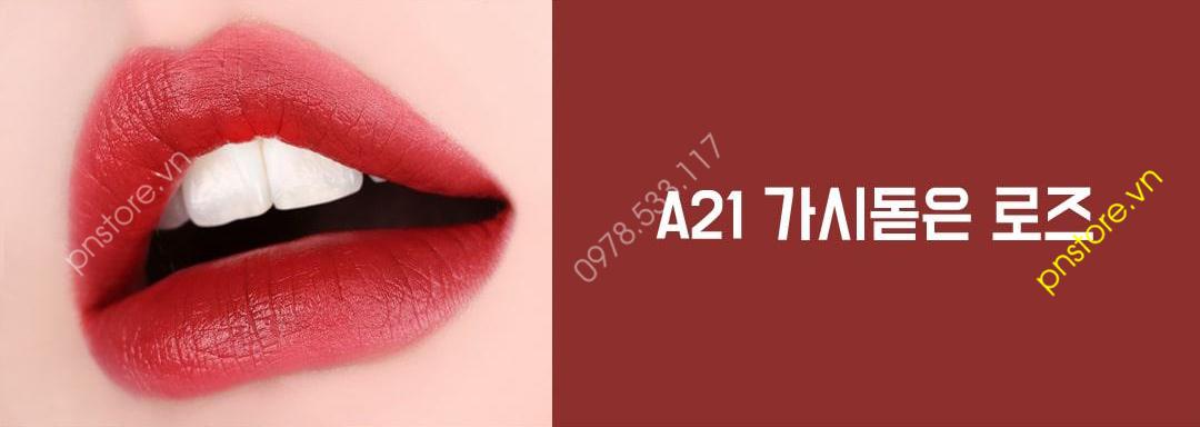 Son môi kem lì Black Rouge Air Fit Velvet Tint Bad Rose version 4 chính hãng (Hàn Quốc)