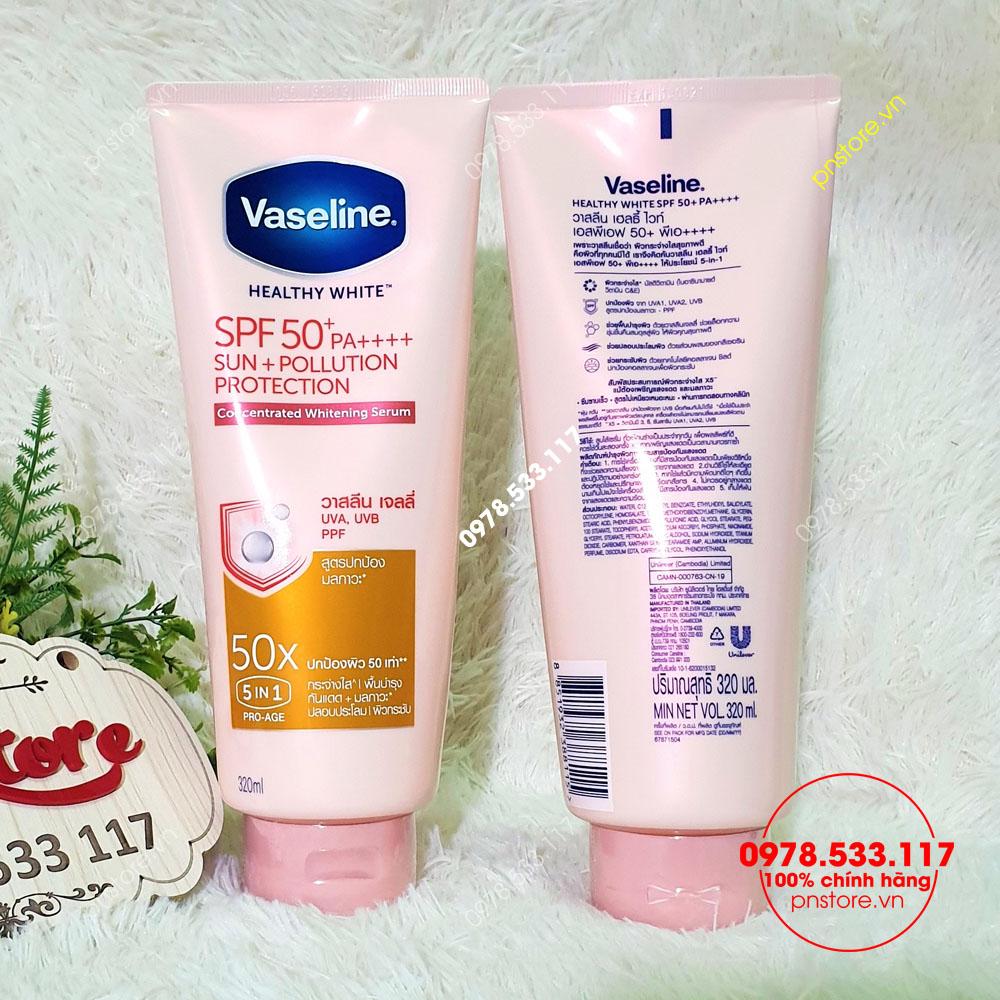 Dưỡng thể trắng da Vaseline 50x SPF 50++ 5 in 1 chính hãng (Thái Lan)