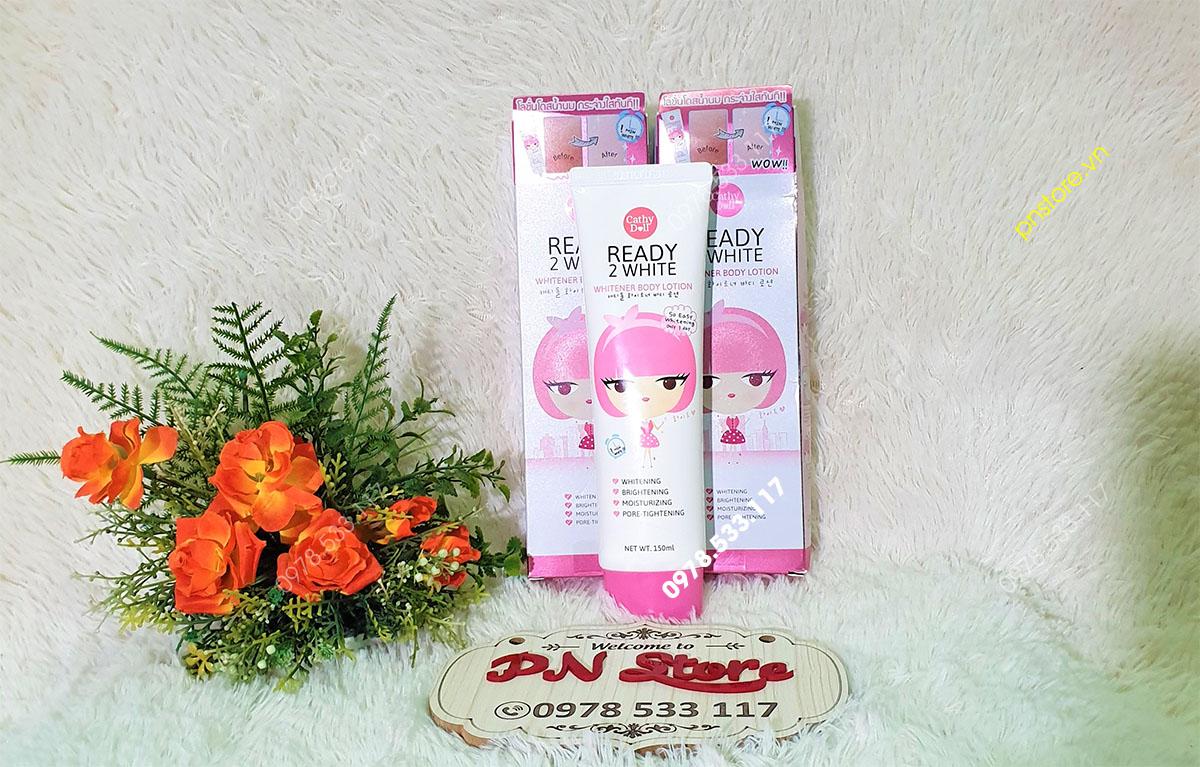 Sữa dưỡng thể trắng da body Ready 2 White Cathy Doll 150ml chính hãng (Thái Lan)