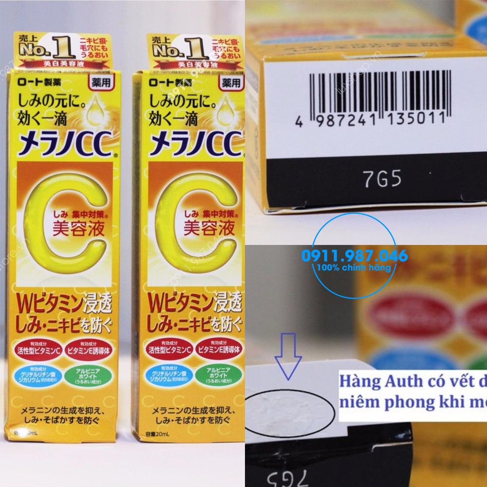 Tinh chất trị thâm mụn Serum Vitamin C Melano CC Rohto chính hãng (Nhật Bản)