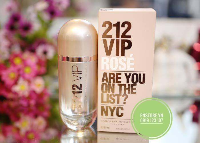 NƯỚC HOA NỮ CAROLINA HERRERA 212 VIP ARE YOU ON THE LIST EDP 80ML CHÍNH HÃNG (MỸ)