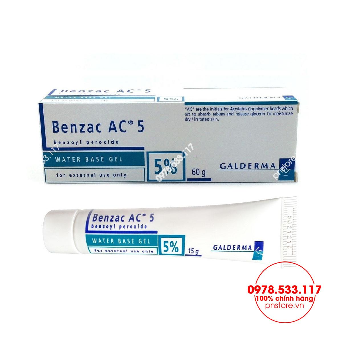 Kem trị mụn Benzac AC 5% Galderma chính hãng