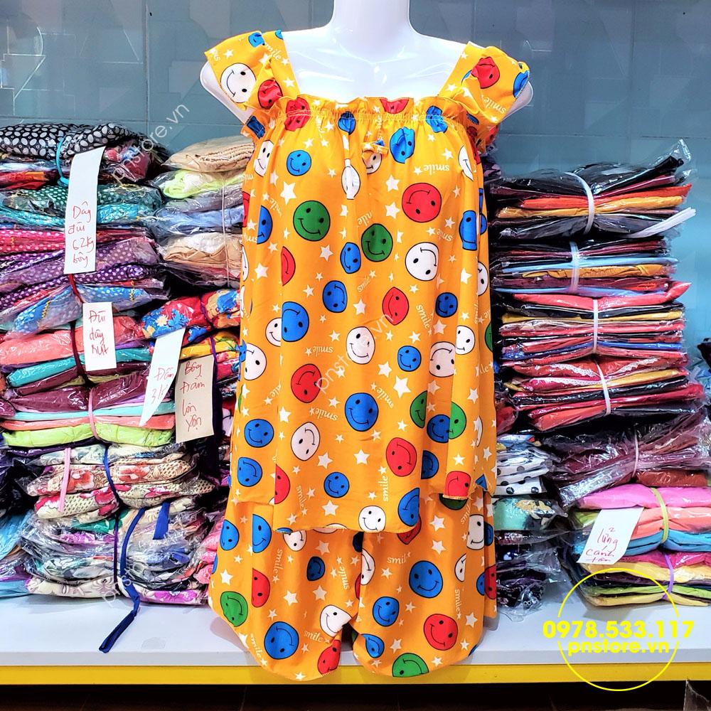 Thời trang nữ: [Thời trang nữ] Chuyên sỉ quần áo đồ bộ mặc nhà giá rẻ chỉ từ 28k 40-60kg-do-bo-dui-thun-lanh-hoa-tiet-mat-cuoi-de-thumb