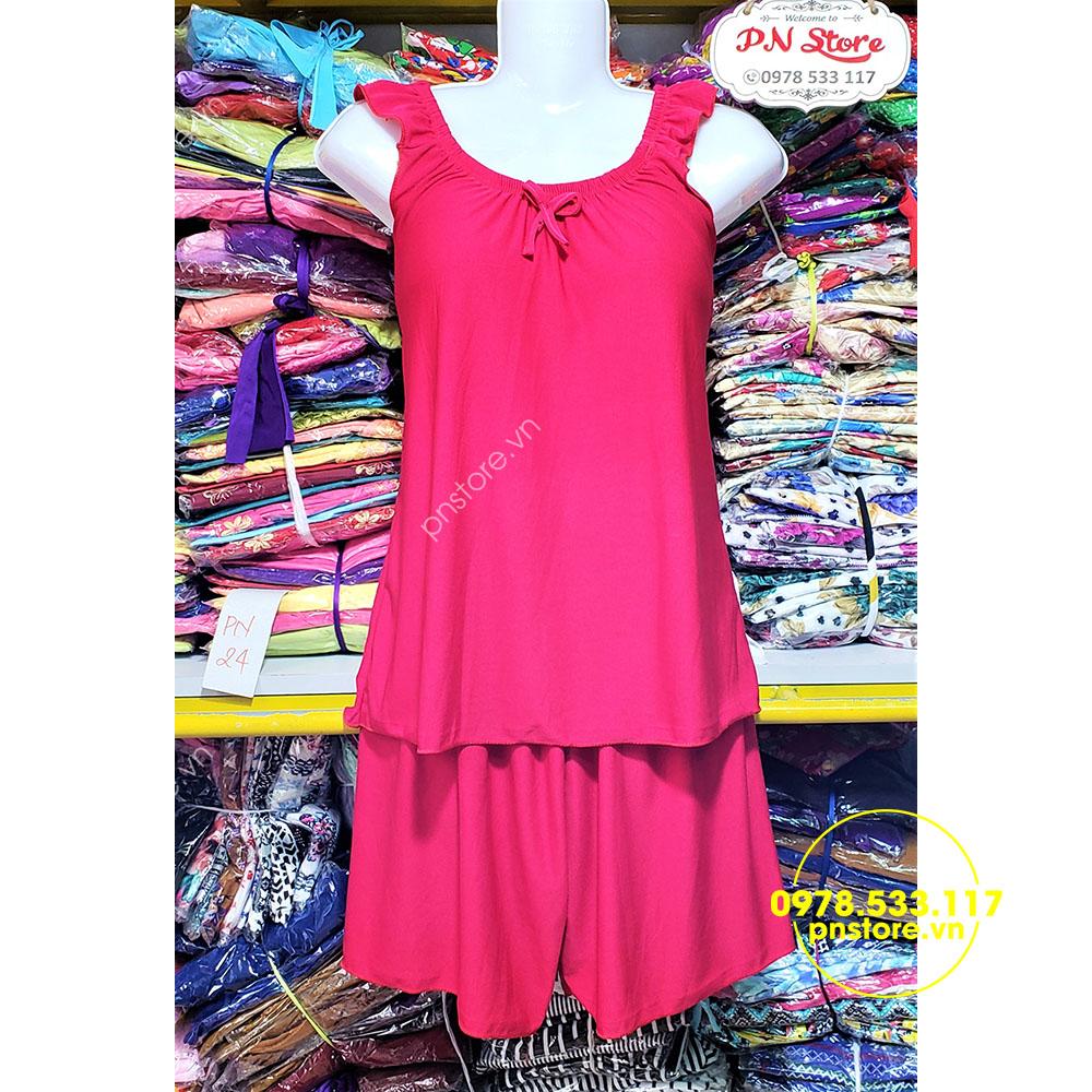 (40-60kg) Đồ bộ đùi thun Su mặc nhà mịn mát - PN71533
