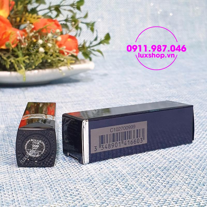 Son môi mini Dior Rouge 999 Matte màu đỏ 1.5g chính hãng Pháp