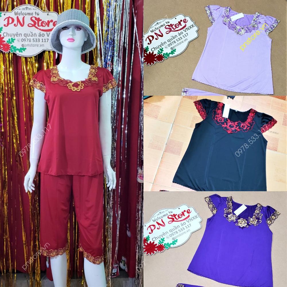 Thời trang nữ: [Thời trang nữ] Chuyên sỉ quần áo đồ bộ mặc nhà giá rẻ chỉ từ 28k Si-do-bo-thun-lanh-hoa-tiet-meo-kitty-de-thuong-thumb