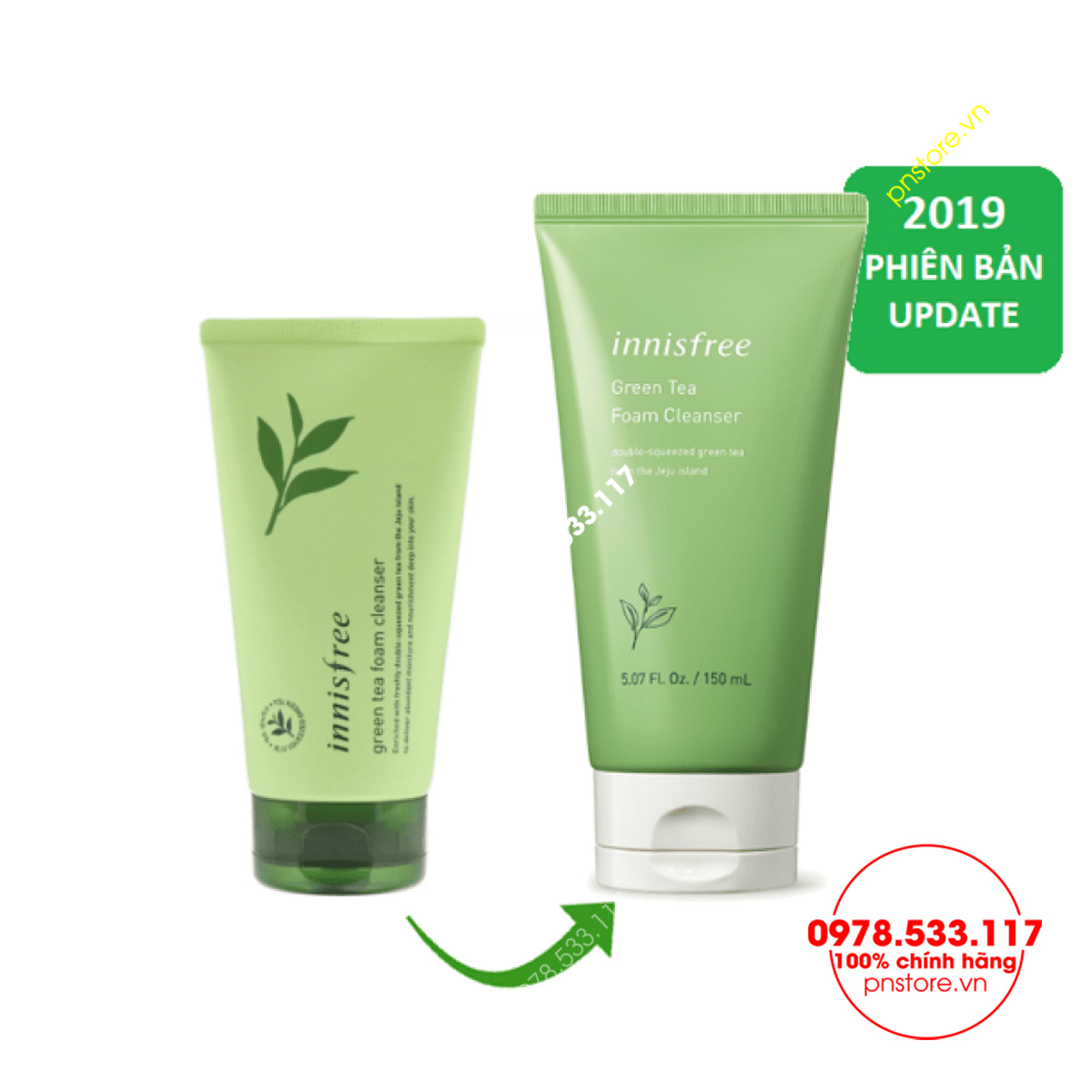 sua-rua-mat-tri-mun-tra-xanh-innisfree-green-tea-cleansing-foam-150ml-chinh-hang-han-quoc