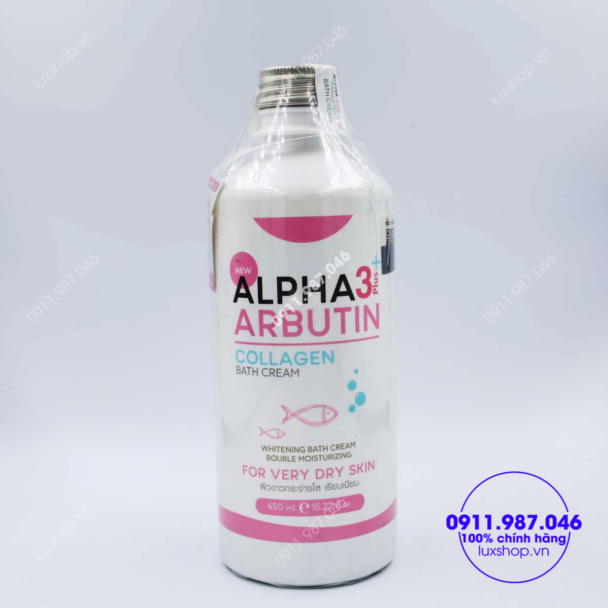 sua-tam-trang-da-alpha-arbutin-3-plus-collagen-bath-cream-450ml-thai-lan