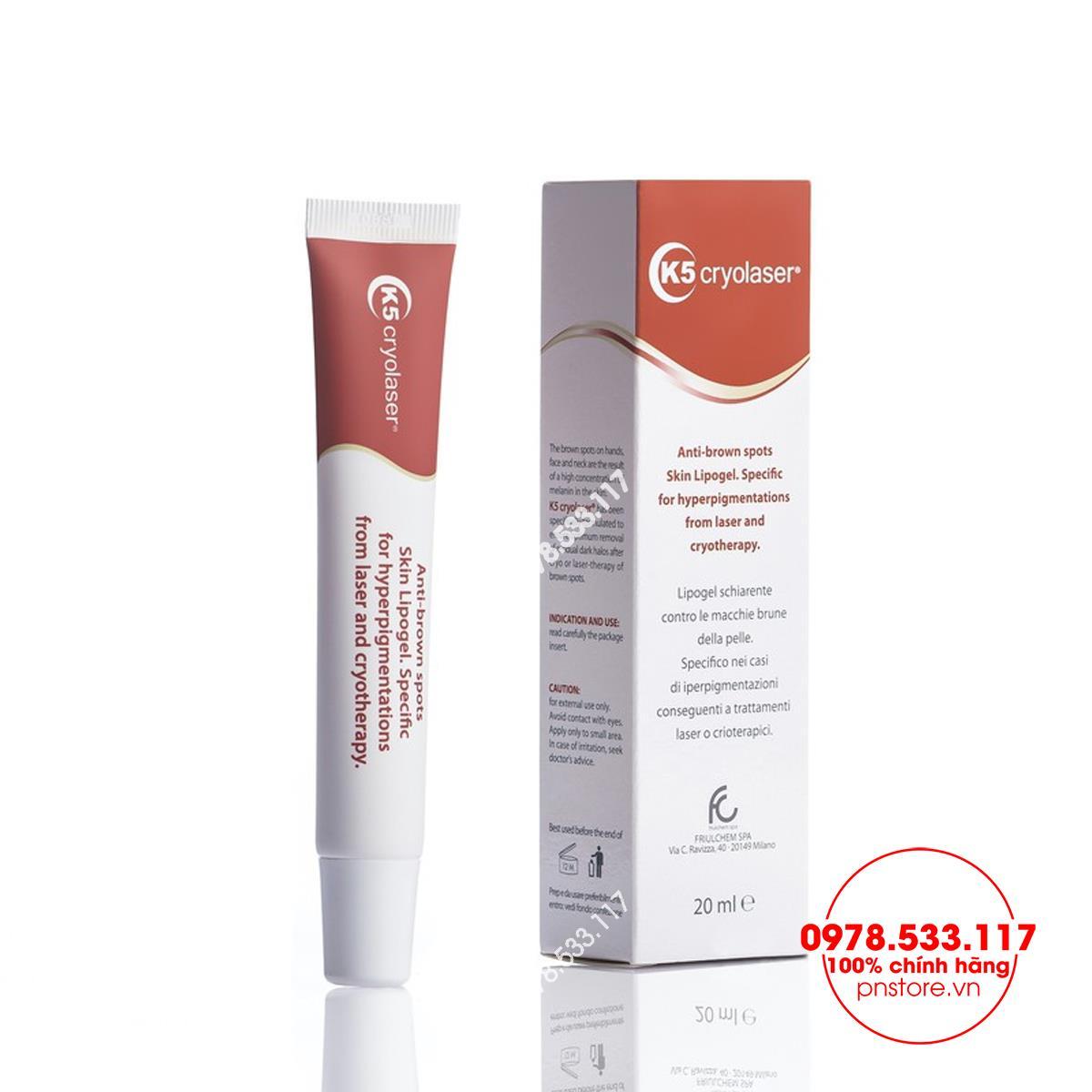 K5 Cryolaser - Điều trị thâm nám tàn nhang tăng sắc tố da sau laser, lăn kim, phi kim - PN99899
