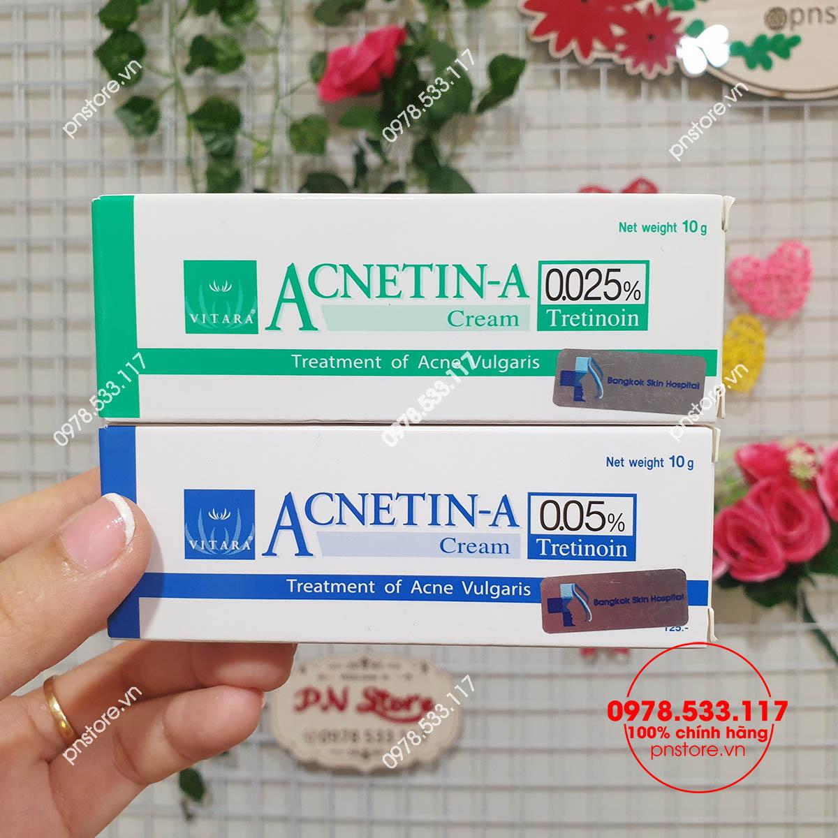 kem-tri-mun-tretinoin-vitara-acnetin-a-0025-005-chinh-hang-thai-lan-10g