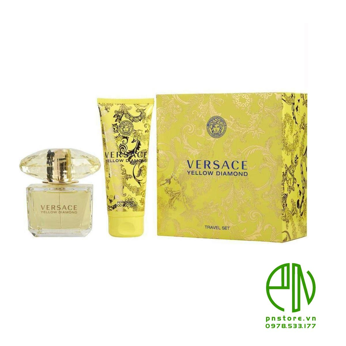 Set Versace Yellow Diamond 90ml + Lotion 100ml chính hãng (Ý)