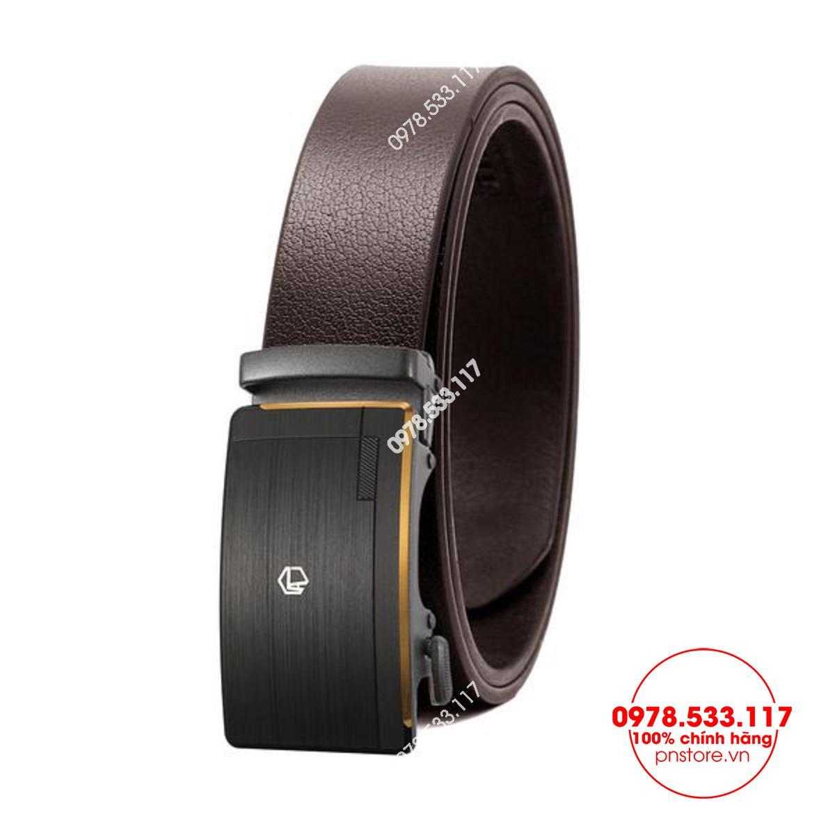 Thắt lưng nam da bò nguyên miếng đầu hợp kim khóa tự động (3.5cm) - PNM416